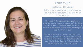 Entrevista a nuestra profesora Elí Gómez acerca de las nuevas metodologías y el uso de las TIC