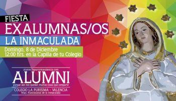 Invitación a la Celebración del día de la Inmaculada. La fiesta de todos los exalumnos/as