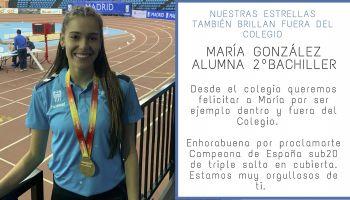 Nuestra alumna, María González, se proclama campeona de España Sub-20