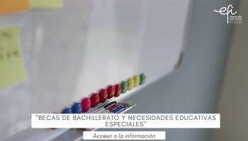 Becas de Bachillerato y Necesidades Educativas Especiales