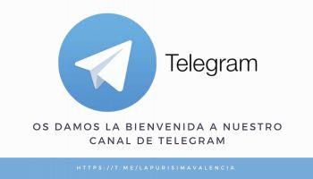 Nuevo canal de Telegram. Nace con la intención de conseguir una comunicación más fluida hacia vosotros