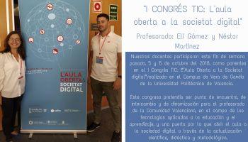 """Nuestro Colegio participa en el I Congrés TIC: """"L'Aula Oberta a la Societat digital"""""""