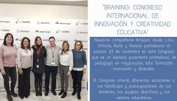 Asistimos a BRAINING: Congreso Internacional de Innovación y Creatividad Educativa