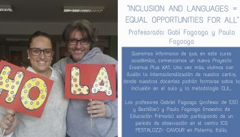 Proyecto Erasmus Plus KA1: Inclusion and languages = equal opportunities for all