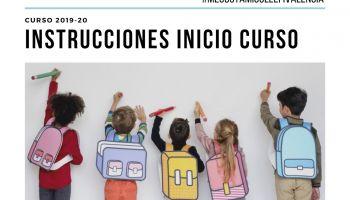 Instrucciones inicio curso escolar 2019-20