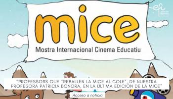 """""""Professors que treballen la MICE al Cole"""", artículo redactado por Patricia Bonora, publicado en la última edición de la MICE"""