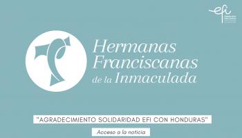 Carta de agradecimiento solidaridad EFI con Honduras
