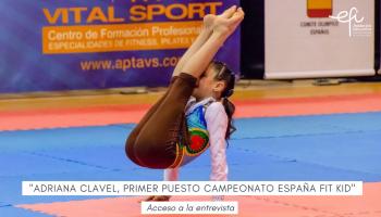 Entrevista a Adriana Clavel, alumna de 3º Primaria, primer puesto en el campeonato de España de Fit Kid